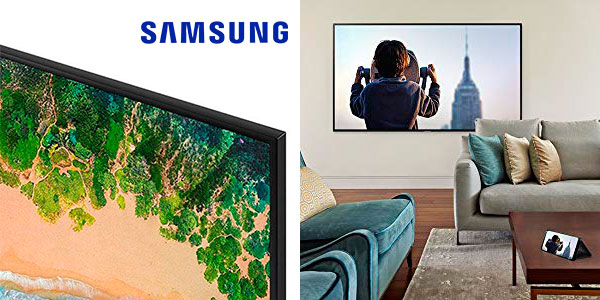 "Smart TV Samsung 55NU7026 4K UHD de 55"" en oferta"