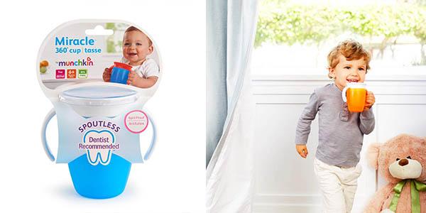 vaso resistente antiderrames para niños Munchkin Miracle 360 chollo
