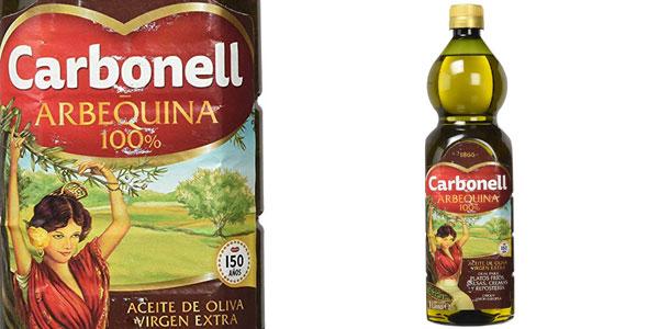 Botella Aceite de oliva virgen extra Carbonell 100% Arbequina botella 1L barata en Amazon