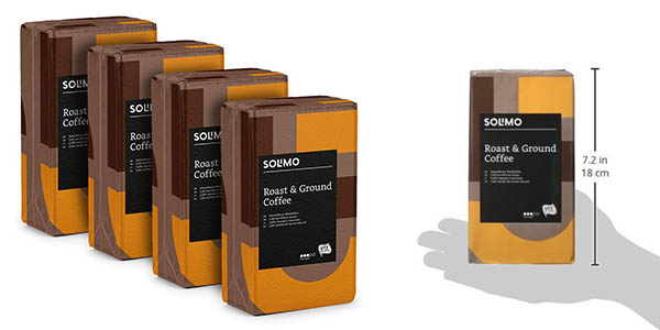 Amazon Solimo café molido pack ahorro