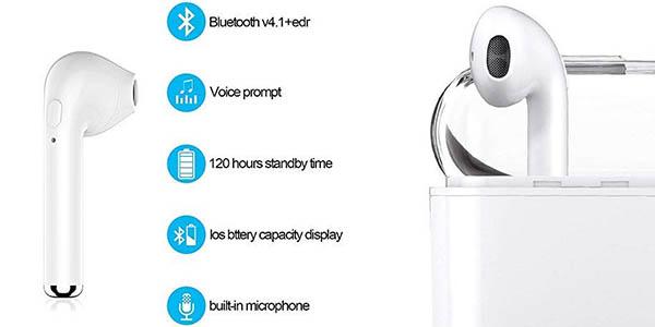 Auriculares Bluetooth 5.0 tipo Airpods en Amazon