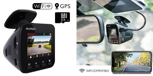 cámara de seguridad para el coche Akaso con cupón descuento Amazon