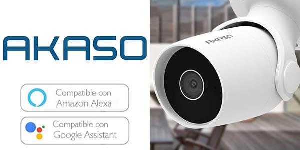 Cámara de Vigilancia Exterior AKASO B60 1080p en Amazon