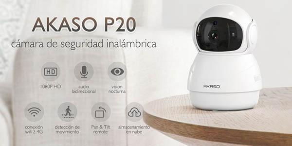 Cámara de seguridad AKASO WiFi 1080p 360°