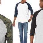 Camiseta de manga ¾ Amazon Essentials Regular-fit Baseball para hombre barata en Amazon