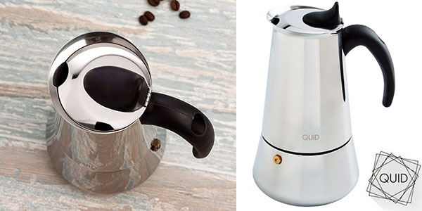 Chollo Cafetera Quid Génova de acero inoxidable con 9 tazas