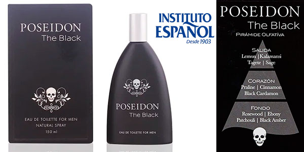 Chollo Eau de toilette Poseidon The Black de 150 ml para hombre