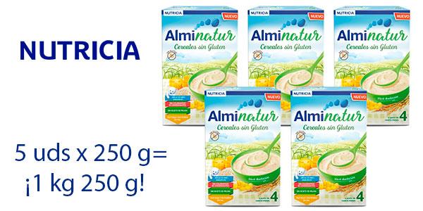 Chollo Pack Papilla de cereales Alminatur sin gluten de 250 g