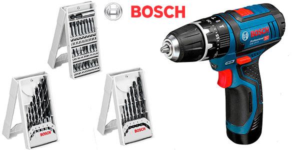 Chollo Taladro percutor Bosch Professional GSB 12V-15 con 2 baterías y maletín