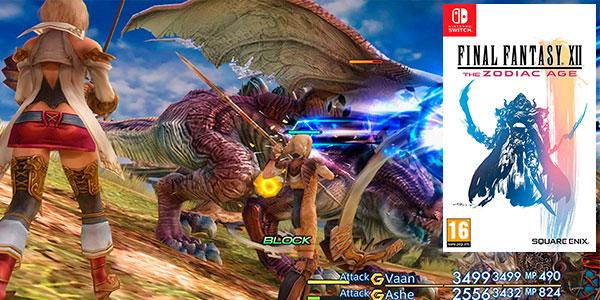 Chollo Final Fantasy XII: The Zodiac Age para Switch