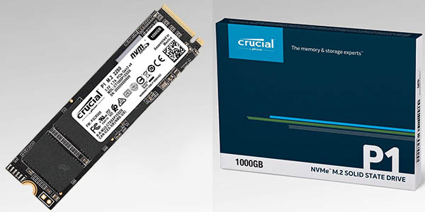 Disco SSD interno Crucial P1 NVMe PCIe de 1 TB