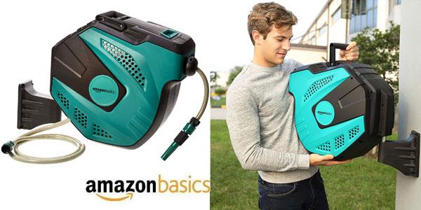 Enrollador automático de manguera AmazonBasics para pared barato en Amazon