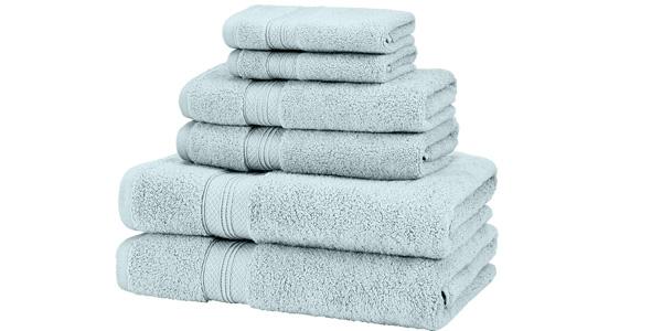 Juego de 4 toallas de algodón Pima Pinzon barato en Amazon