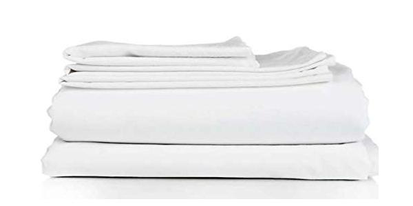 Juego de sábanas de tres piezas SABANALIA JS-Hosteleria en color blanco chollo en Amazon