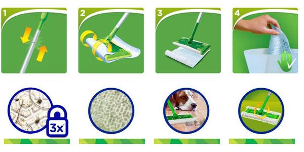 Kit de mopa básico Swiffer con 8 recambios en oferta en Amazon