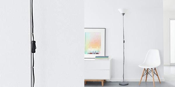 Lámpara de pie LED con bombilla de 10W E27 chollazo en Amazon