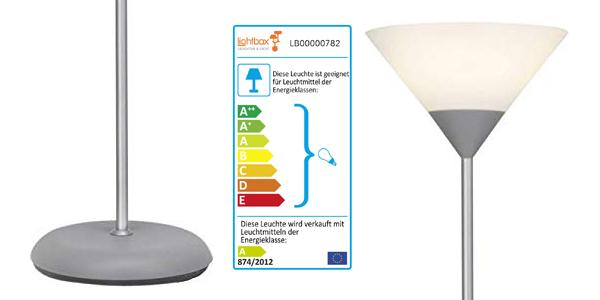 Lámpara de pie LED con bombilla de 10W E27 chollo en Amazon