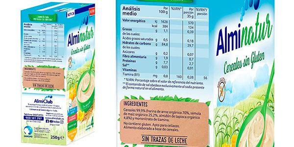 Pack Papilla de cereales Alminatur sin gluten de 250 g barato