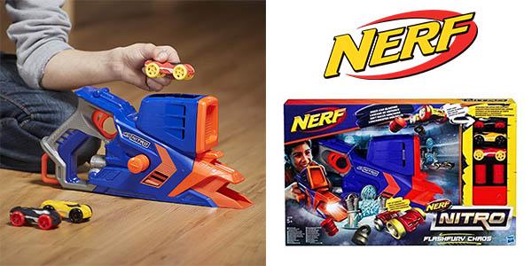 lanzador Nerf Nitro C0788 Flashfury Chaos + 3 Samochody barato