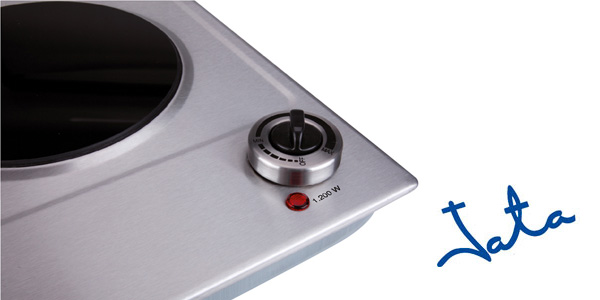 Placa de cocina eléctrica vitrocerámica JATA V531 de 1200 W chollo en Amazon