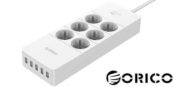 Regleta ORICO 6 tomas de corriente+ 5 USB