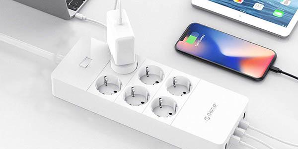 Regleta ORICO 6 tomas de corriente+ 5 USB barata