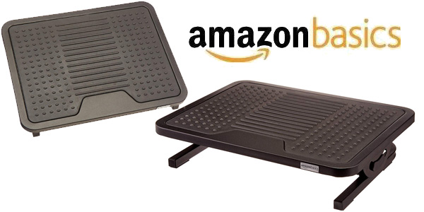 Reposapiés AmazonBasics negro chollo en Amazon