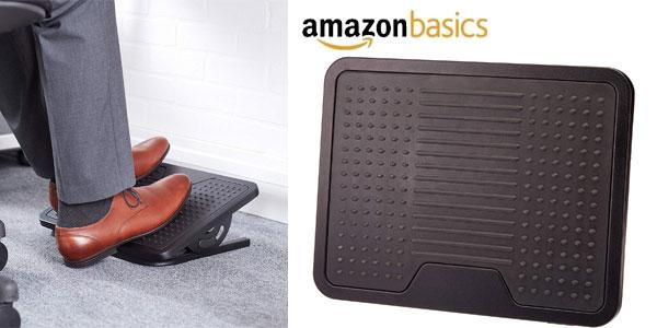 Reposapiés AmazonBasics negro barato en Amazon