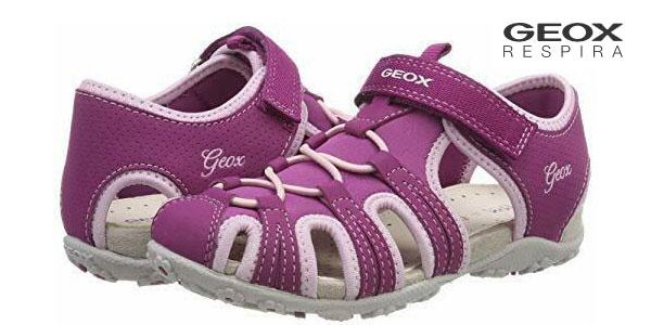 Sandalias de puntera cerrada Geox Jr Sandal Roxanne B para niña baratas en Amazon