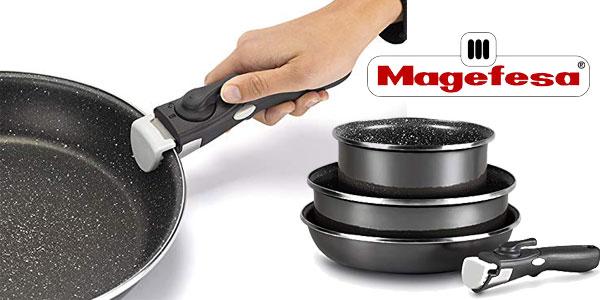 Set 3 piezas Magefesa K2 Cristal con mango extraíble chollo en Amazon