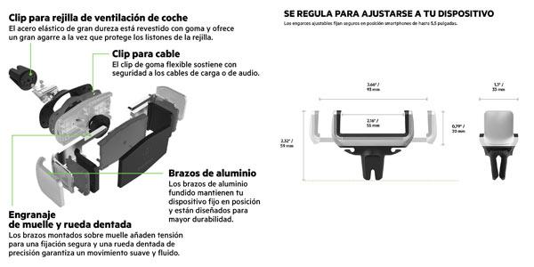 Soporte Belkin para smartphone para la rejilla de ventilación del coche barato en Amazon
