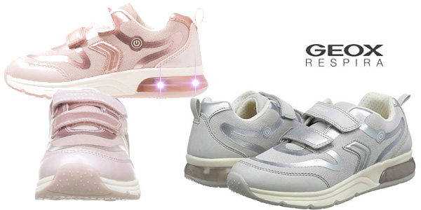 Zapatillas Geox J Spaceclub Girl C con luces para niña baratas en Amazon
