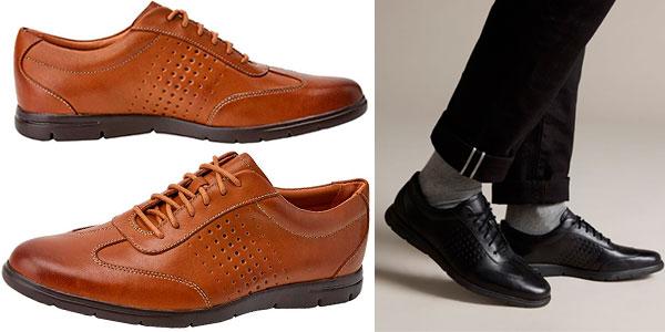 Zapatos Clarks Vennor Vibe para hombre baratos