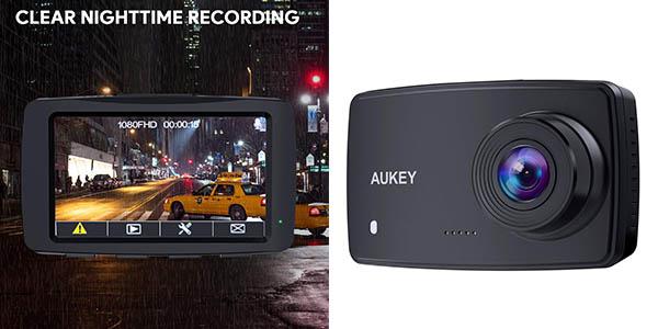 Aukey cámara de seguridad para el coche con cupón descuento