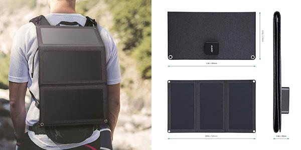 Aukey panel cargador solar portátil oferta
