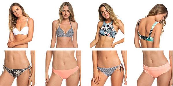 bañadores y bikinis Roxy con cupón descuento agosto 2019