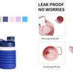 Botella de agua plegable Lixada barata en Amazon
