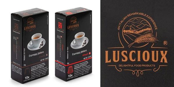 Pack x100 cápsulas café espresso Luscioux compatibles con Nespresso baratas en Amazon