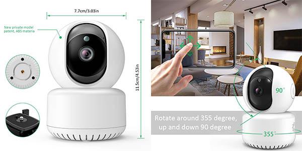 cámara de seguridad Dadypet con WiFi oferta