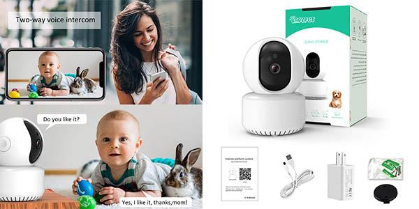 cámara de seguridad alta resolución Dadypet relación calidad-precio estupenda