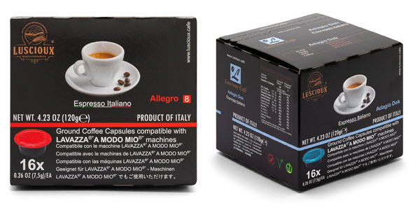 Cápsulas de café Luscioux compatibles con Lavazza A Modo Mio baratas en Amazon