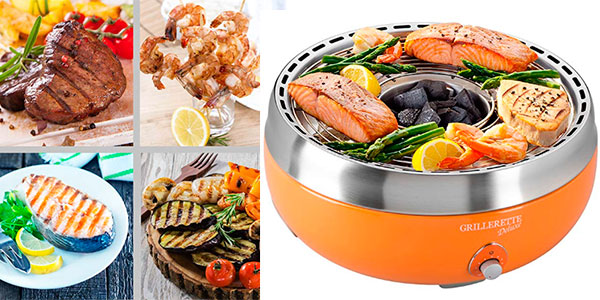 Chollo Barbacoa de carbón vegetal Food & Fun Deluxe sin humos