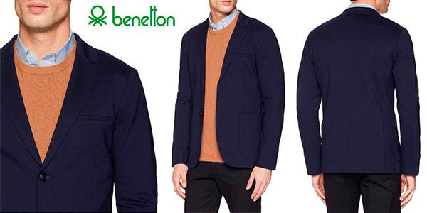 Chollo Chaqueta americana United Colors of Benetton para hombre
