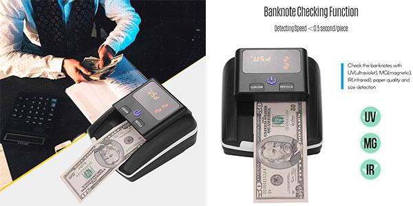 Chollo Detector Aibecy de billetes falsos con medidor de valor