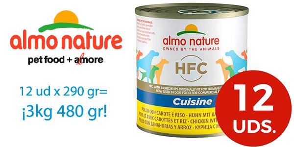 Chollo Pack de alimento húmedo Almo Nature Cuisine de pollo, zanahoria y arroz para perros adultos