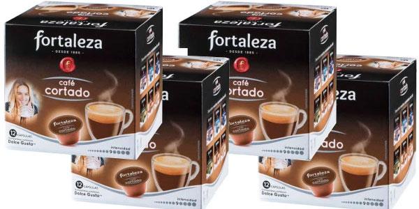 Chollo pack 4x12 c psulas de caf cortado fortaleza for Capsulas dolce gusto baratas