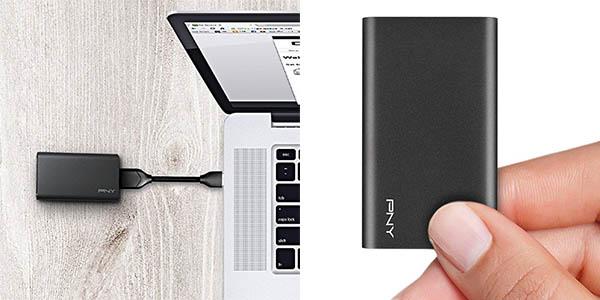 Disco SSD portátil PNY Elite 480 GB USB 3.1