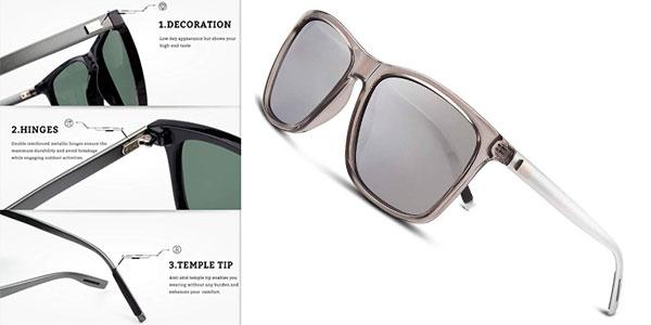 Gafas de sol polarizadas unisex Gquee con protección UV400 en varios modelos baratas