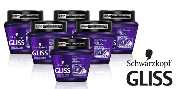Gliss Fiber Therapy mascarilla para el pelo pack ahorro