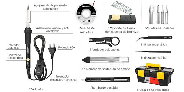 Kit de soldador Meterk MK-15 en oferta